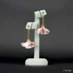 Kolczyki Złota Panienka z Kolekcji Golden Lady - pudrowy róż