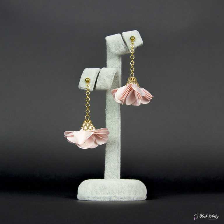 Kolczyki Złota Panienka zKolekcji Golden Lady - pudrowy róż