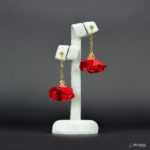 Kolczyki Złota Panienka z Kolekcji Golden Lady - czerwony