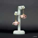 Kolczyki Złota Panienka z Kolekcji Golden Lady - brudny jasny różowy