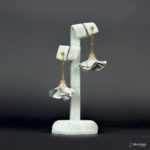 Kolczyki Złota Panienka z Kolekcji Golden Lady - jasny szary