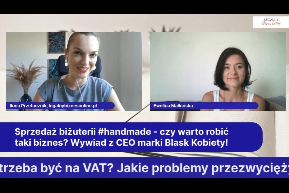 Wywiad Eweliny Małkińskiej dla Ilony Przetacznik